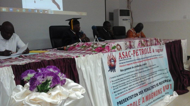 Asac: Maurice Itous Ibara présente sa recherche du pétrole à magnon