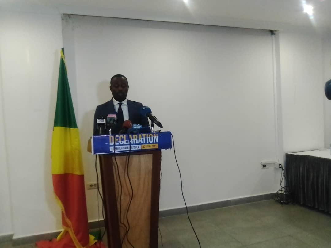 PRESIDENTIELLE AU CONGO : DAVE MAFOULA PREND ACTE DES RESULTATS ET N'EXCLUT PAS DES RECOURS